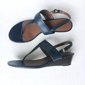 Cole Haan leather wedge thong sandal - size 8